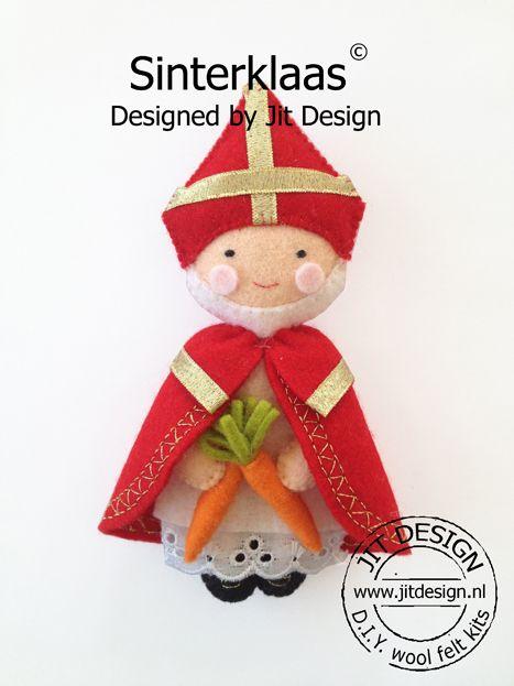 DIY wolvilt pakket Sinterklaas/ DIY wool felt kit Sinterklaas