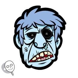 Printable Zombie Mask