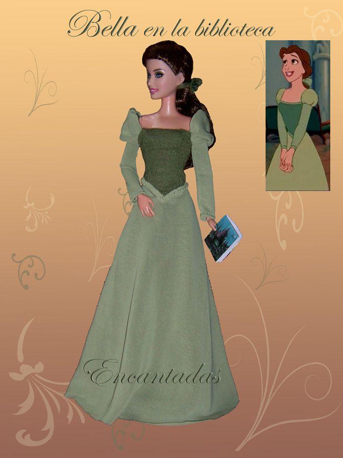 BELLE (Beauty and Beast) green dress by Encantadas.deviantart.com