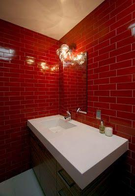 Best 25 Red Bathrooms Ideas On Pinterest Bathroom Paint