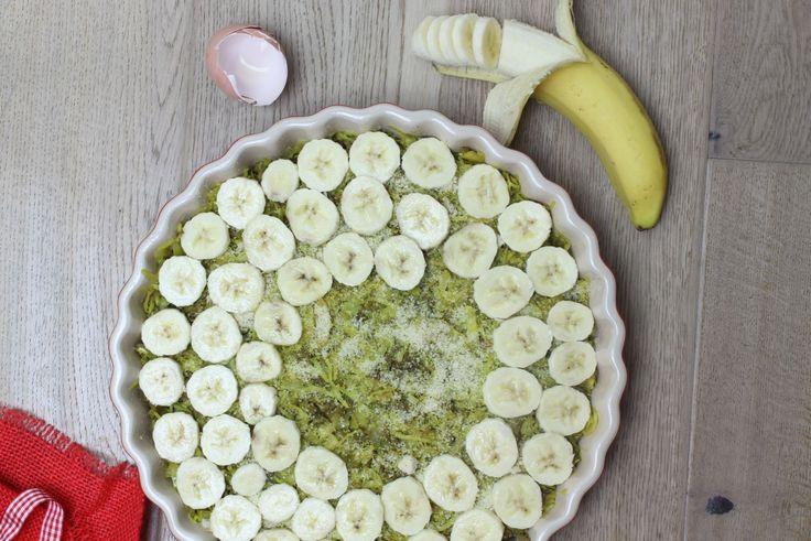 Koolhydraatarm recept voor hartige taart met gehakt, banaan en kerrie| eethetbeter.nl