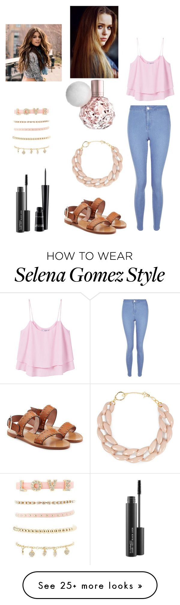 """""""A day out with Selena Gomez"""" by queenprincessliarra on Polyvore featuring MANGO, New Look, RED Valentino, Toni&Guy, MAC Cosmetics, Charlotte Russe and DIANA BROUSSARD"""