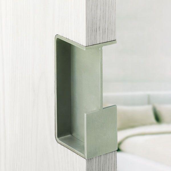 Poignée inox carré pour coulissant - Vue 1