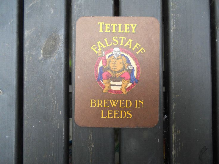 #Tetley #falstaff beer brewed in #leeds beer mat coaster,  View more on the LINK: 	http://www.zeppy.io/product/gb/2/222324966891/