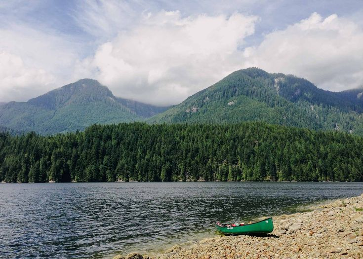 Canoeing down the Indian Arm