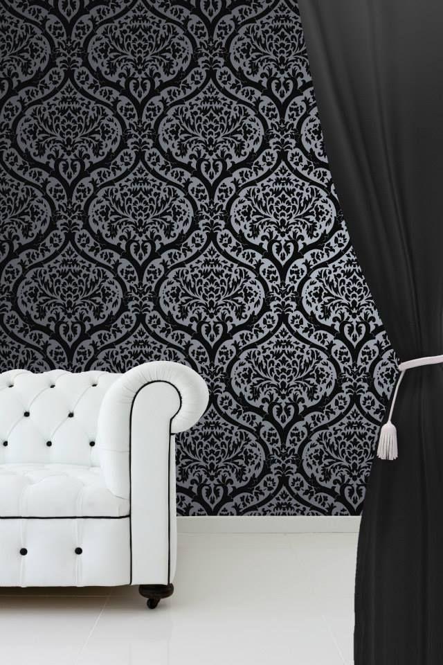 58 best images about blendworth wallcoverings on pinterest for Black bedroom wallpaper