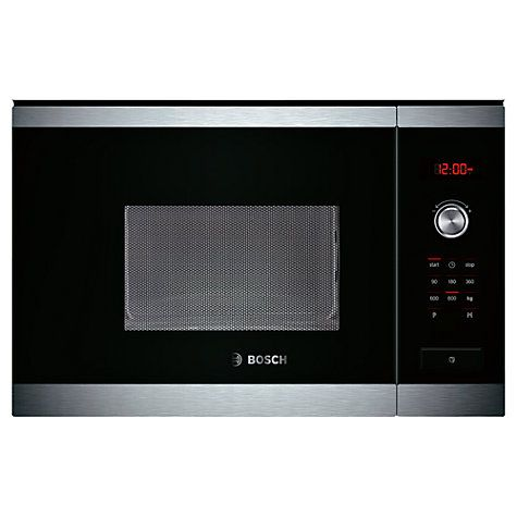Buy Bosch HMT75M654B Built-In Compact Microwave, Brushed Steel Online at johnlewis.com