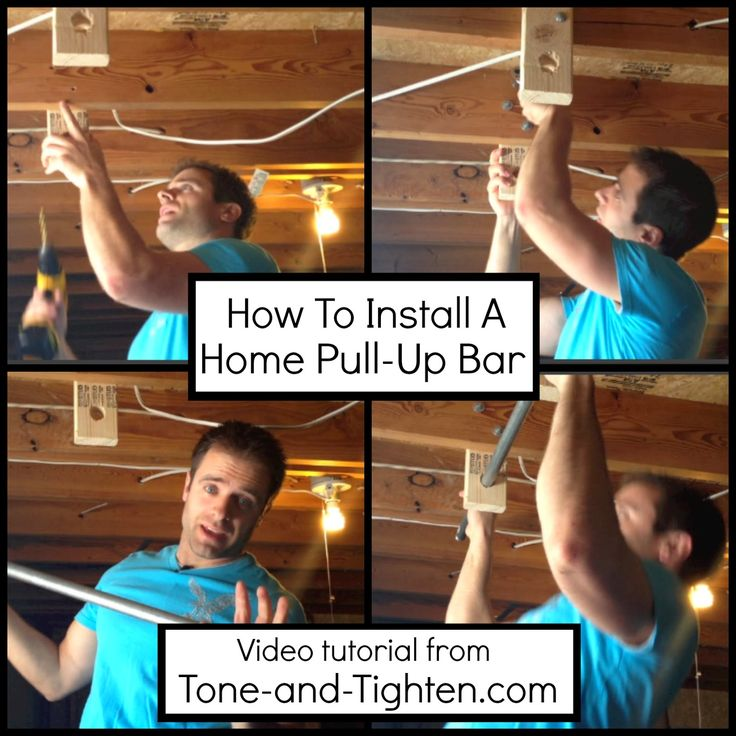 Install your own at-home pull-up bar! One of my favorites in my home gym! Video tutorial included from Tone-and-Tighten.com