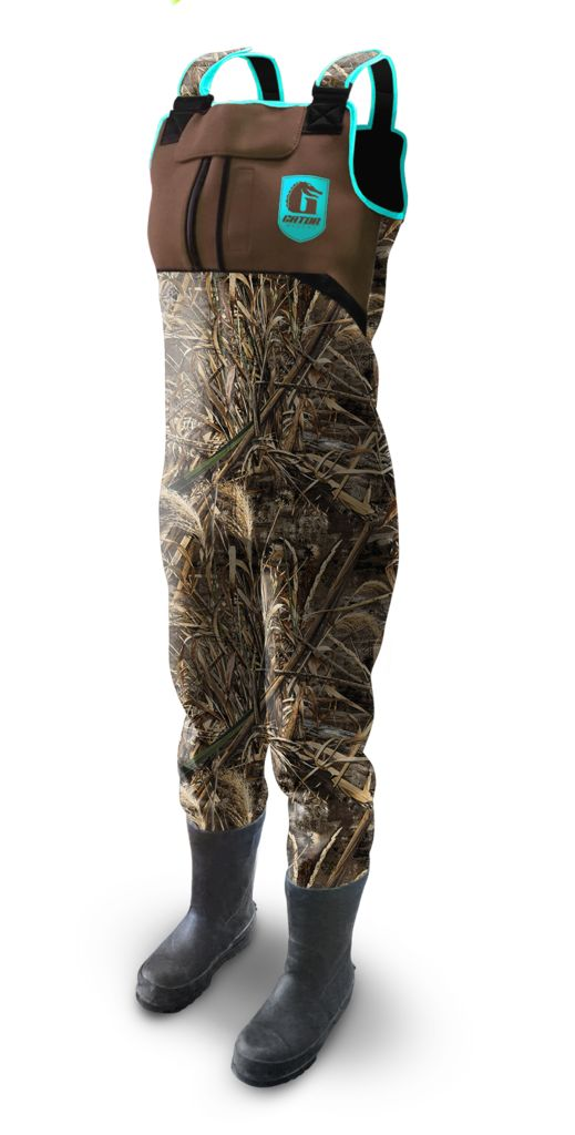 TRUE TO SIZE!!! All sizes!!!Women's Throttle Series Gator Waders - Camo & Aqua.