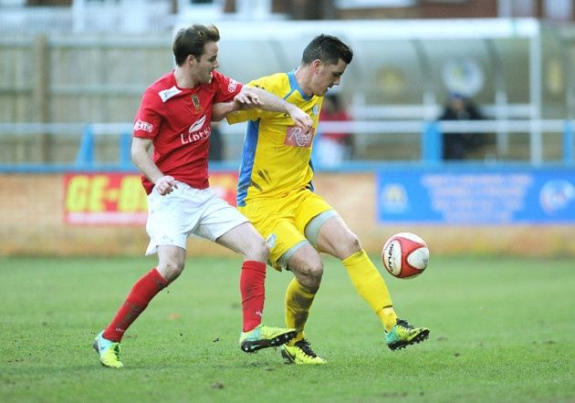 King's Lynn Town FC #kltfc  8/02/14    Jason Lee. Picture: Ian Burt