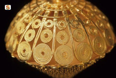 Dorgali, bottone d'oro, Gold button, Sardinia, Sardegna.