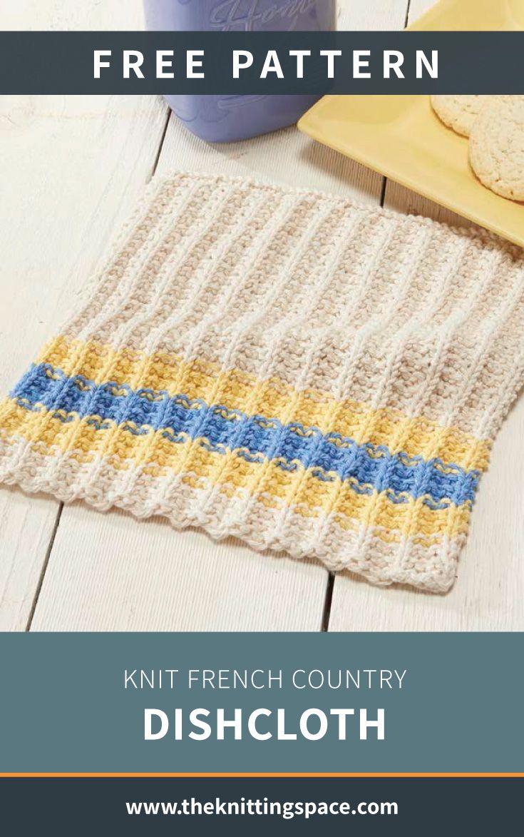 Paño de cocina francés de punto [FREE Knitting Pattern]