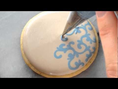 Piping Filigree In Royal Icing