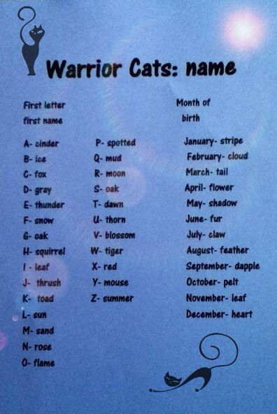 What is your warrior cat name?-Mine's Cinderleaf, which is cool since the second part is the same as the second part in my role-play!