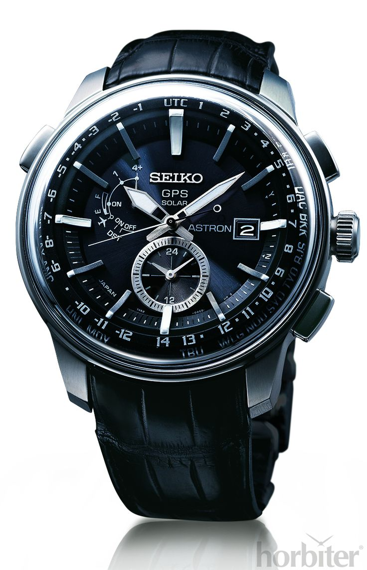 SEIKO GPS Astron - The only timepiece in the world to ever read, on demand, the time in each of the 39 timezones.