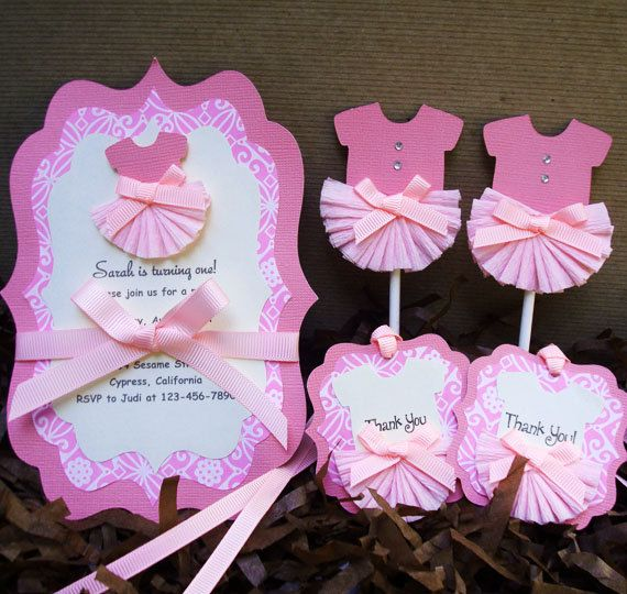 Handmade Pink Ballerina Cupcake Topper for Girl by forLittleSmiles, $11.99