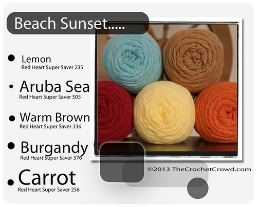 Color Schemes using Red Heart Super Saver