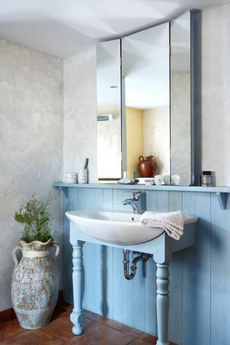 Ванные комнаты в translation missing: ru.style.Ванные-комнаты.kantri. Автор - Studio Projektowe RoRO interior + design