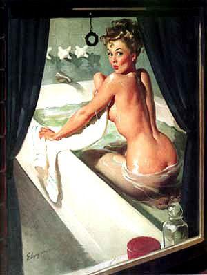 Peeping Tom!Elvgren Pinup, Pin Up Artworks, Vintage Pinup, Pinup Girls, Vintage Pin Ups, Gil Elvgren, Vintage Pins, Girls Pictures, Pin Up Girls