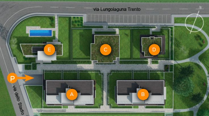 #Soleis Residential Complex - Buildings with 11 dwellings A/B, Semidetached #house C with 2 dwellings, #Villas D/E #luxury #realestate #forsale #italy #lignano