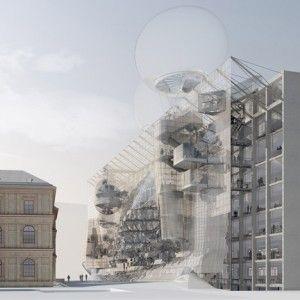 University of Applied Arts Vienna  by Wolfgang Tschapeller