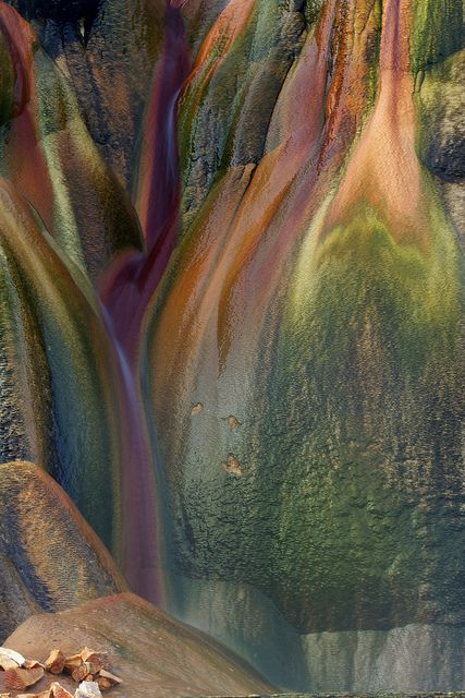 Fly Geyser Rocks, rich colors given by minerals