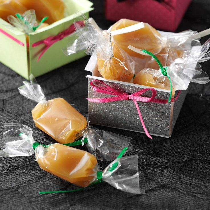 Soft Rum Caramels Recipe -I adapted a family recipe to come up with these melt-in-your-mouth caramels. My husband and daughter eagerly volunteer to eat any scraps from the pan! —Kelly-Ann Gibbons, Prince George, British Columbia