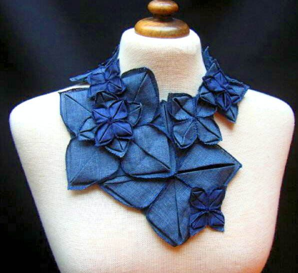 "l'ETOFFE DES FEES (Aurore Flenner) - my ""origami"" necklace - found & bought on Ebay ......"