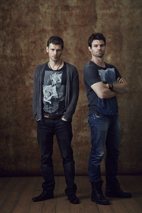 """The Originals: Klaus & Elijah - seriously Vampire Brothers are the """"it"""" thing....I'll take a little Klaus and Elijah with a side of Damon and Stefan please ;)"""