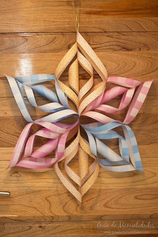 Estrella de papel para decorar, aprende a hacerla paso a paso...