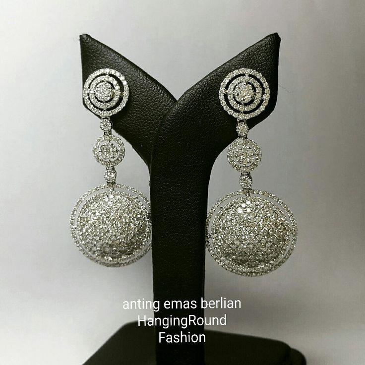New Arrival. Anting Emas Berlian HangingRound Fashion.   Toko Perhiasan Emas Berlian-Ammad +6282113309088/5C50359F  Cp.Antrika.  https://m.facebook.com/home.php #investasi#diomond#gold#beauty#fashion#elegant#musthave#tokoperhiasanemasberlian