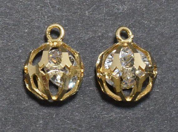 Cubic Ball Brass Pendant, Wedding Jewelry, Jewelry Supplies, Jewelry Making, Polished Gold - 1pcs / UT0001-PG