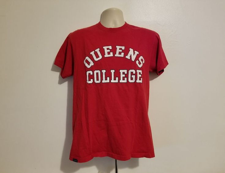 Queens College Adult Medium Burgundy T-Shirt #Jansport