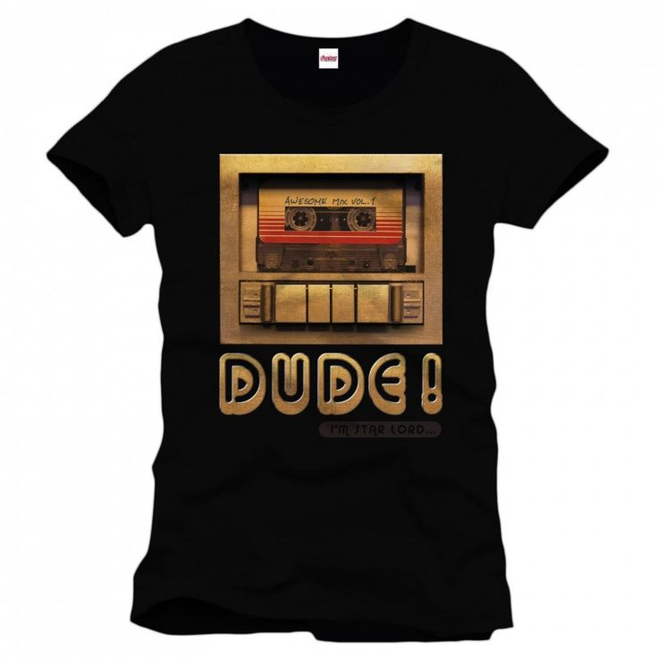 Guardians of the Galaxy - Dude! T-shirt - Black