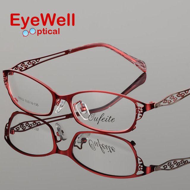 Eyewell Eyeglasses Store - High- grades metal alloy glasses frame half frame glasses frame female optical eyeglasses