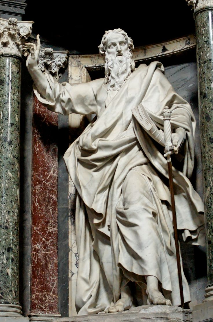 Saint Paul sculpture, Basilica of St. John Lateran, Vatican City, Rome.