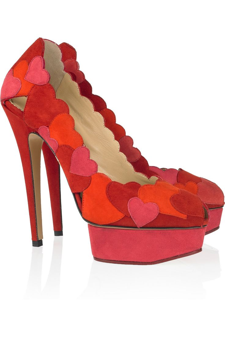 Charlotte Olympia: Hot Shoes, Suede Pumps, Woman Shoes, Valentines Day, Valentinesday, Charlotte Olympia Shoes, Charlotteolympia, Su Pumps, Love Me