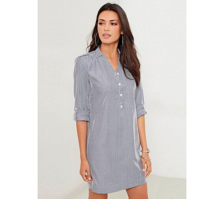 Košilové pruhované šaty   modino.cz #modino_cz #modino_style #style #fashion #summer #bestseller