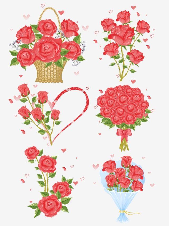 سلة زهرة رسمت باليد عيد الحب رومانسية روز باقة نبات طازج سلة زهرة رسمت باليد باقة Png وملف Psd للتحميل مجانا Purple Flower Background Flower Basket Rose Illustration