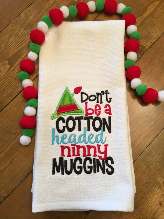 Christmas Kitchen Towel Christmas Dish Towel Don T Be A Cotton