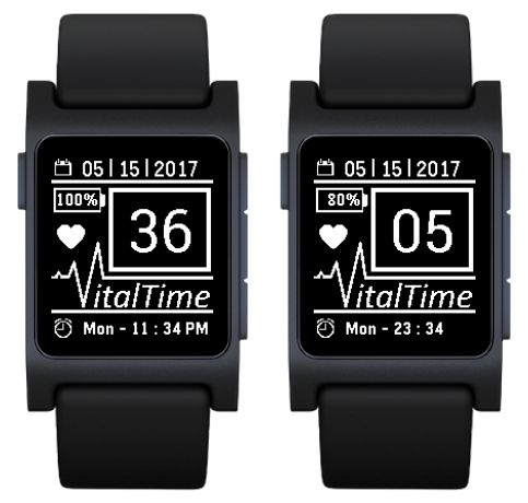 VitalTime  Pebble Watch App ~ Inspired for the medical field.