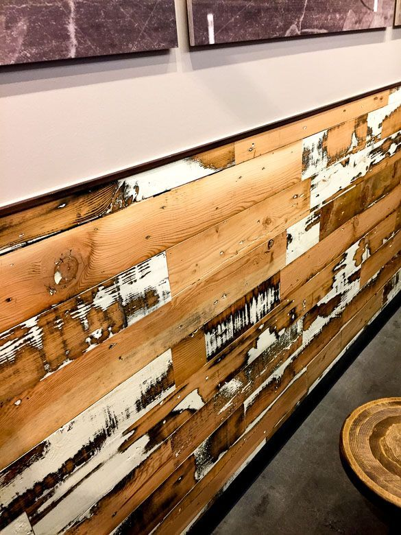Viridian Reclaimed Wood Granary Plank Colorburst White PDX Portland Oregon  MOD Pizza - 72 Best Images About Walls - Viridian Reclaimed Wood On Pinterest