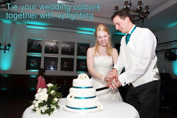 Matching the uplighting to your wedding colours looks amazing in your photos - DJ Martin Lake