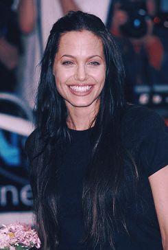 "fauxhy: ""supermodelgif: "" Angelina Jolie in London, 2000 "" gawdamn """