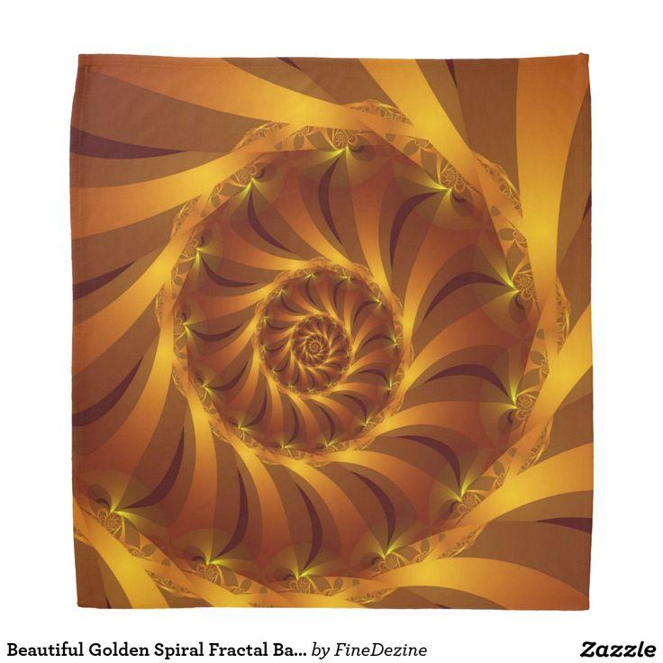 Beautiful Golden Spiral Fractal Bandana