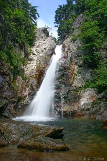Glen Ellis Falls at the base of Mount Washington in New Hampshire.