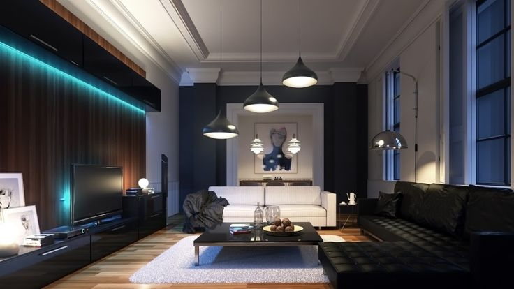 night interior vray