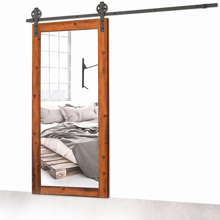 17 meilleures id es propos de porte coulissante miroir - Porte coulissante bois et verre ...