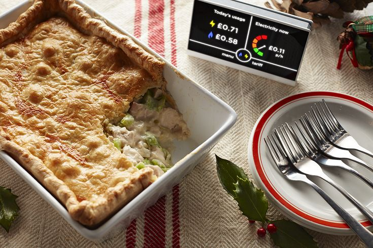 Try this Turkey bake pie recipe - cooked with 10p of energy. You can track your energy use at home with a smart meter.