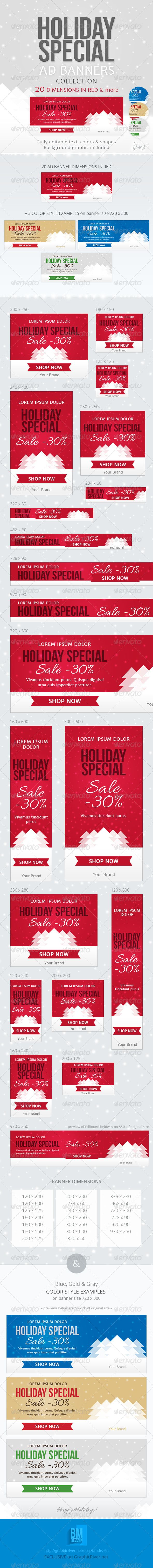 Holiday Special Web Ad Banners  #GraphicRiver